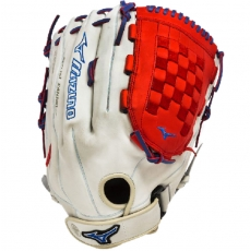 "CLOSEOUT Mizuno MVP Prime SE Slowpitch Softball Glove 14"" Silver/Red/Royal GMVP1400PSES3"