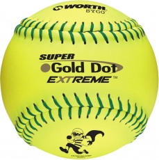 "Worth 12"" ISA Super Gold Dot Extreme Slowpitch Softball (1 Dozen) IS44CY"