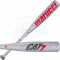 Marucci Cat 7 Silver Junior Big Barrel USSSA Baseball Bat -10oz MJBBC72S