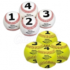 Diamond Numbered Training Balls - Baseball or Softball