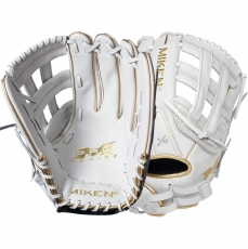 "Miken White Gold Pro Series Slowpitch Softball Glove 13"" PRO130-WG"
