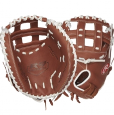 "CLOSEOUT Rawlings R9 Series Fastpitch Softball Catcher's Mitt 33"" R9SBCM33-24DB"