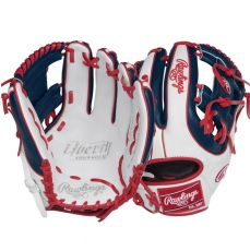 "CLOSEOUT Rawlings Liberty Advanced Color Series Fastpitch Softball Glove 11.75"" RLA315SB-2WNS"