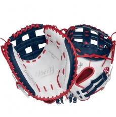 CLOSEOUT Rawlings Liberty Advanced Color Series Fastpitch Softball Catcher's Mitt 33