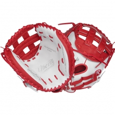 "Rawlings Liberty Advanced Color Series Fastpitch Softball Catcher's Mitt 33"" RLACM33FPWS"