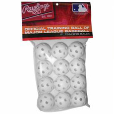 "Rawlings Plastic Golf Balls 5"" White ROPT5PK12 12-Pack"