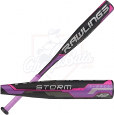 CLOSEOUT Rawlings Storm Youth USA Tee Ball Bat -12oz TB8S12