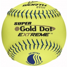 "Worth 12"" USSSA Super Gold Dot Extreme Slowpitch Softball (1 Dozen) UC12CYXT"