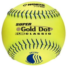 "Worth 12"" USSSA Super Gold Dot Classic C-LOK Technology Slowpitch Softball (1 Dozen) UC12SY W602385"