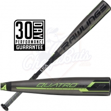 CLOSEOUT 2019 Rawlings Quatro Pro Youth USA Baseball Bat -8oz US9Q8