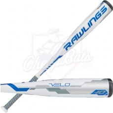 "CLOSEOUT 2018 Rawlings Velo Youth Big Barrel Baseball Bat 2 3/4"" -10oz UT8V34"