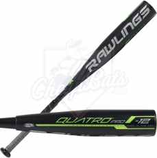 CLOSEOUT 2019 Rawlings Quatro Pro Youth USSSA Baseball Bat -12oz UT9Q12
