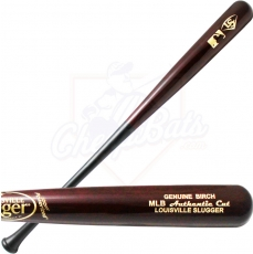 CLOSEOUT Louisville Slugger MLB Authentic Cut Birch Wood Baseball Bat WBCBMLB-HB