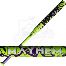 2018 Worth Mayhem XL Slowpitch Softball Bat End Loaded ASA USSSA WHEMMU