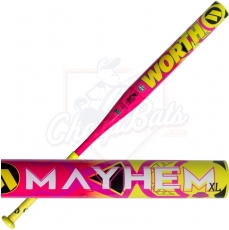 CLOSEOUT 2017 Worth Mayhem XL Slowpitch Softball Bat End Loaded ASA USSSA WMHALL
