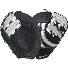 "Wilson A2000 SuperSkin Fastpitch Softball First Base Mitt 12"" WTA20RF17BM12SS"