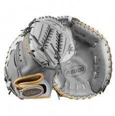 "Wilson A2000 SuperSkin Fastpitch Softball Catcher's Mitt 34"" WTA20RF19CM34SS"