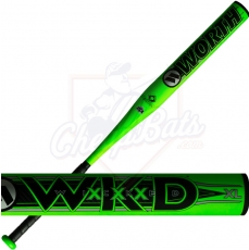CLOSEOUT 2019 Worth Wicked XL Senior Slowpitch Softball Bat End Loaded SSUSA WWICKD
