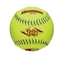Diamond Zulu Slowpitch Softball - Blue Stitch USSSA