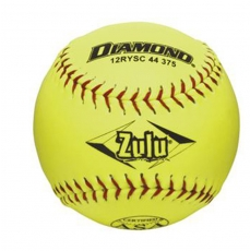 Diamond Zulu Slowpitch Softball - Red Stitch ASA - Case of Six Dozen