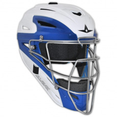 All Star White Two Tone Catchers Helmet MVP2500WTT - Adult