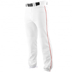 CLOSEOUT Rawlings Pro Weight Baseball Pant with Piping WHITE BP350P