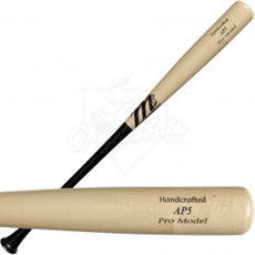 CLOSEOUT Marucci Albert Pujols Pro Model Wood Baseball Bat Black-Natural - AP5BN