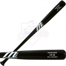CLOSEOUT Marucci Chase Utley Pro Model Black Wood Baseball Bat - CU26B