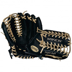 "CLOSEOUT Miken Super Soft Baseball Glove 12.75"" MS1275BB"
