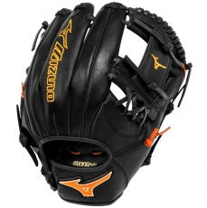 "CLOSEOUT Mizuno MVP Prime SE Baseball Glove 11.5"" Black/Orange GMVP1154PSE2"