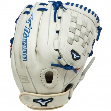 "Mizuno MVP Prime SE Fastpitch Softball Glove 12"" Silver/Red/Royal GMVP1200PSEF1"