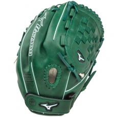 "CLOSEOUT Mizuno MVP Prime SE Fastpitch Softball Glove 12"" Forest/Silver GMVP1200PSEF1"