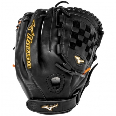 "CLOSEOUT Mizuno MVP Prime SE Fastpitch Softball Glove 12"" Black/Orange GMVP1200PSEF1"
