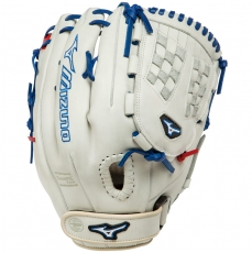 "Mizuno MVP Prime SE Fastpitch Softball Glove 12.5"" Silver/Red/Royal GMVP1250PSEF1"