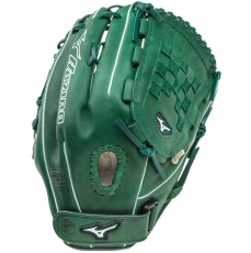 "CLOSEOUT Mizuno MVP Prime SE Fastpitch Softball Glove 13"" Forest/Silver GMVP1300PSEF1"