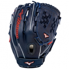 "CLOSEOUT Mizuno MVP Prime SE Fastpitch Softball Glove 13"" Navy/Red GMVP1300PSEF1"