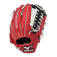 "Mizuno MVP Prime SE Series Baseball Glove 12.75"" Red/Black GMVP1277PSE"