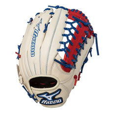 "Mizuno MVP Prime SE Series Baseball Glove 12.75"" Silver/Red/Royal GMVP1277PSE"