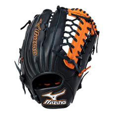 "Mizuno MVP Prime SE Series Baseball Glove 12.75"" Black/Orange GMVP1277PSE"