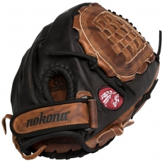 "Nokona Buckaroo Black Fastpitch Softball Glove 12.5"" BKF-1250-BLK"