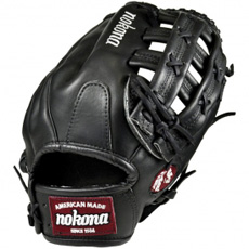 Nokona Bloodline Black Baseball Glove BL-1275H-BLK 12.75""