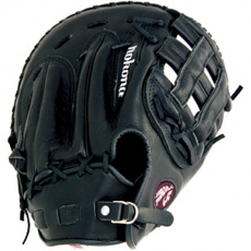 Nokona Bloodline Black First Base Mitt AMG1250-BL-H (BL-1250H-BLK) 12.5""