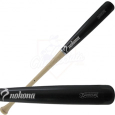 Nokona MB-271 Maple Wood Baseball Bat Black Two-Tone