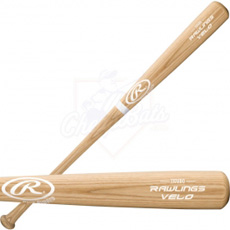 Rawlings Bone Rubbed Velo Wood Baseball Bat 110VBO