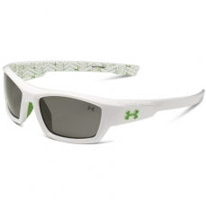 Under Armour Kids ACE Sunglasses Shiny White/Hypergreen