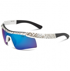 Under Armour Kids DYNAMO Sunglasses Shiny White/Gray with Polar Blue Lens