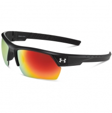 Under Armour IGNITER 2.0 Sunglasses Satin Black/Black with Orange Lens