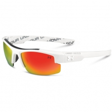 Under Armour Kids NITRO L Sunglasses Shiny White/Charcoal with Orange Lens