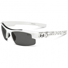 Under Armour Kids NITRO L Sunglasses Shiny White/Black