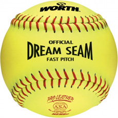 "Worth Dream Seam Fastpitch Softball ASA 12"" (1 Dozen) C12RYLAH"